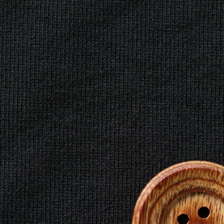 【ニット】40/2 クラシック天竺(ブラック)