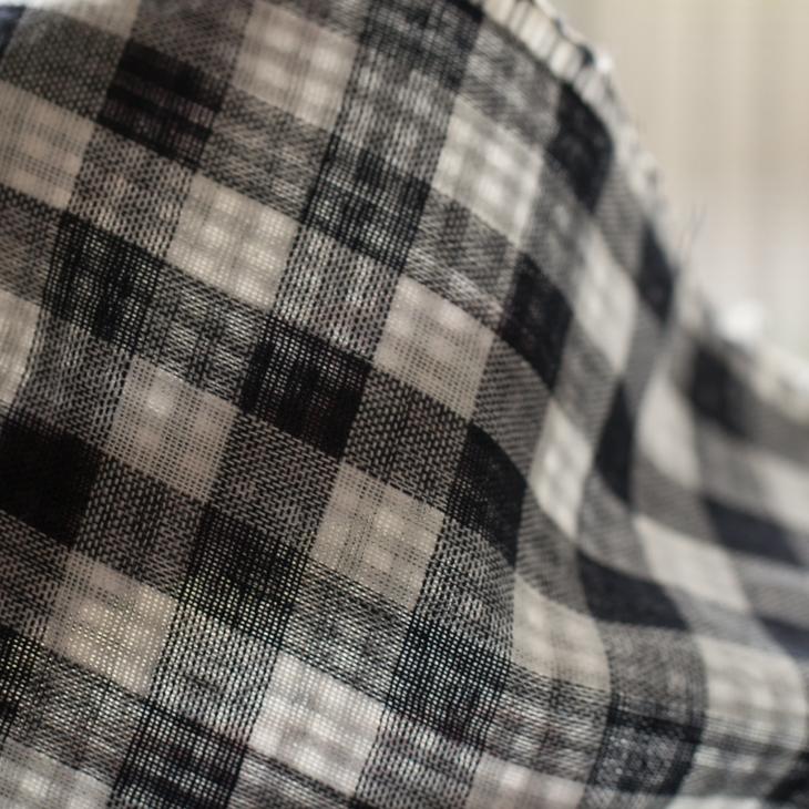【布帛】リバーシブルダブルガーゼ(ギンガムチェック×スモールギンガムチェック)