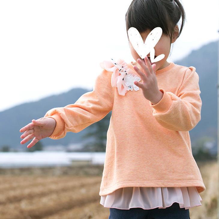【ニット】コットン・モダールTOPミニ裏毛(オレンジシュガー)