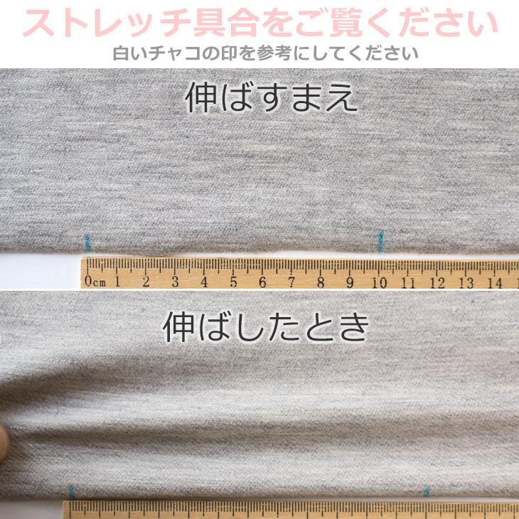 【ニット】大人キレイなストレッチインレーニット(薄いグレー杢×きなり)