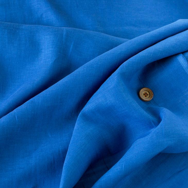 【布帛】くったりフレンチリネン(ブルー)