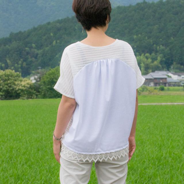【ニット】30/-ソフト天竺(クリアホワイト)