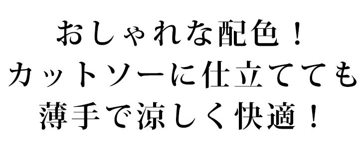 【ニット】爽やか配色のトリコロールボーダー 24/天竺