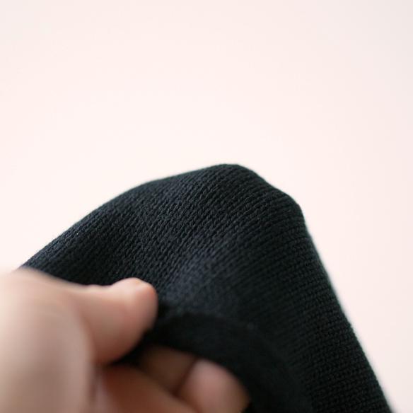 【ニット】メンズのセーター風しっかり厚手天竺(ブラック)