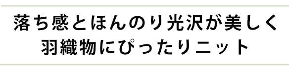 【ニット】さらりとなめらかなストライプジャガード(きなり)